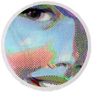 Girl Round Beach Towel