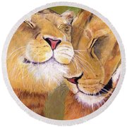 Girlfriends Round Beach Towel