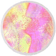 Girlz Only Abstract Round Beach Towel