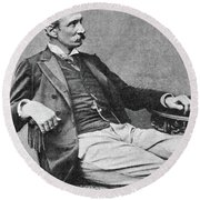 Giuseppe Zanardelli (1824-1903) Round Beach Towel