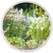 Giverny North Number Three Round Beach Towel