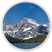 Glacier National Park Mountain Round Beach Towel