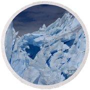 Glacial Blue Round Beach Towel