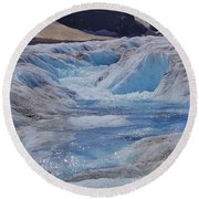 Glacial Meltwater 2 Round Beach Towel
