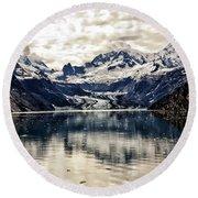 Glacier Bay Landscape - Alaska Round Beach Towel