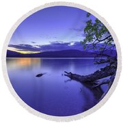Glacier Blue Round Beach Towel
