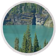 Glacier Lake Round Beach Towel