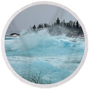 Glacier Round Beach Towel
