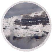Victoria Glacier Mist - Lake Louise, Alberta Round Beach Towel
