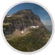 Glacier National Park Panorama Round Beach Towel