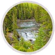 Glacier National Park Splendor Round Beach Towel