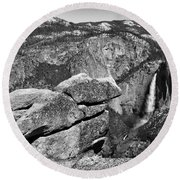 Glacier Point Nw Round Beach Towel