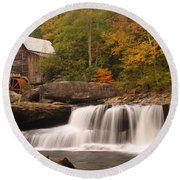 Glade Creek Grist Mill 10 Round Beach Towel