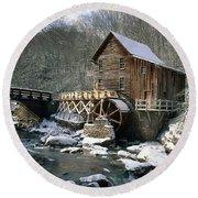 Glade Creek Grist Mill In West Virginia Round Beach Towel