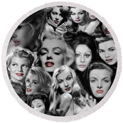Glamour Girls 1 Round Beach Towel