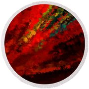 Glance Of Colors Round Beach Towel
