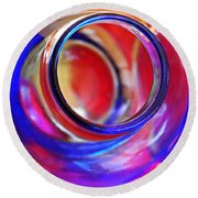 Glass Abstract 592 Round Beach Towel