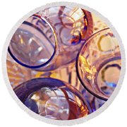 Glass Abstract 620 Round Beach Towel