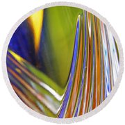 Glass Abstract 743 Round Beach Towel
