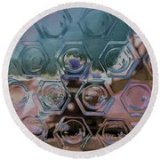 Glass Abstract II Round Beach Towel