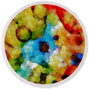 Glass Art Abstract Round Beach Towel