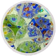 Glass Beads Abstract Round Beach Towel
