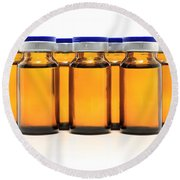 Glass Bottles And Medicine Round Beach Towel