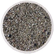 Glass In The Gravel Round Beach Towel