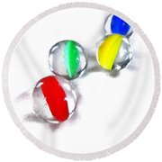 Glass Marbles Round Beach Towel