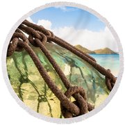 Glass Ornament Round Beach Towel