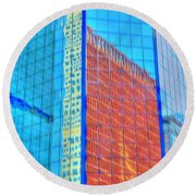 Glass Reflections Round Beach Towel
