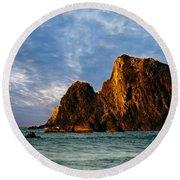 Glass Rocks Round Beach Towel