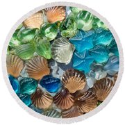 Glass Seashell Round Beach Towel