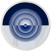 Glass Spheres Round Beach Towel