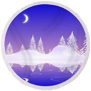 Glass Winter Round Beach Towel
