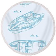 Glasspar 1960's California Boat Round Beach Towel