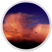 Glaucous-winged Gulls Larus Glaucescens Round Beach Towel