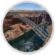 Glen Canyon Dam Bridge Round Beach Towel