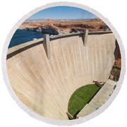 Glen Canyon Dam Round Beach Towel