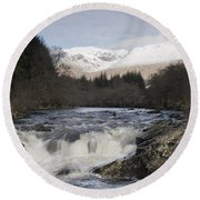 Glen Orchy Scotland Round Beach Towel
