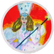 Glenda The Good Witch Of Oz Round Beach Towel