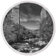 Glenfinnan Viaduct Round Beach Towel