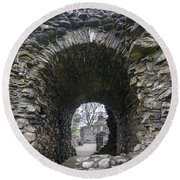 Glenluce Abbey - 3 Round Beach Towel