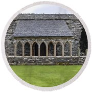 Glenluce Abbey - 5 Round Beach Towel