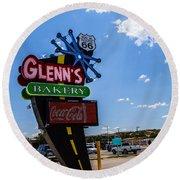 Glenns Bakery Round Beach Towel