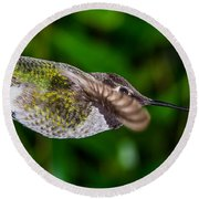 Gliding Hummingbird Round Beach Towel