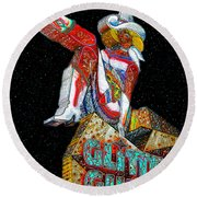 Glitter Gulch Girl Round Beach Towel