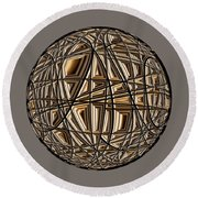 Global Routing Round Beach Towel