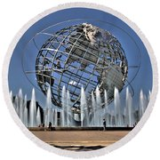 Global Warming Round Beach Towel