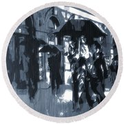 Gloomy Day In The City Round Beach Towel by Dan Sproul